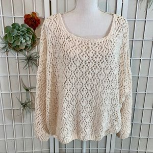 Earthbound Trading Company Open Knit Sweater